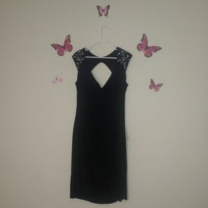 Black New Noir Sleeveless Bodycon Dress with gems